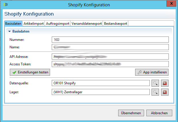 Shopify Fulfillment Anbindung